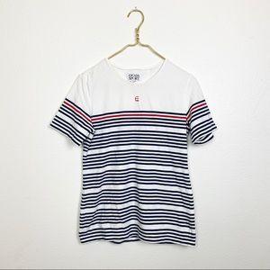 ESCADA Sport Vintage White Navy Striped T-Shirt